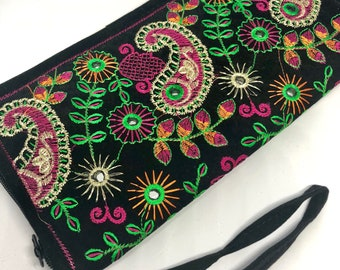 Banjara Bags, Boho Clutch, Gypsy Clutch, Ethnic Bags, Banjara Clutch, Makeup Case, Vintage, Boho Bags, Silk Purse, Bridal Purse, Gift Ideas
