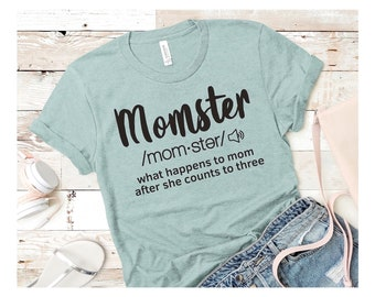Momster, Mom Gifts, Aunt Gift, Be Kind, BLM Shirts, Slogan Tees, Kindness Gifts, Funny T-Shirts, Mom Shirts, Birthday Tees, Tired as a Mom