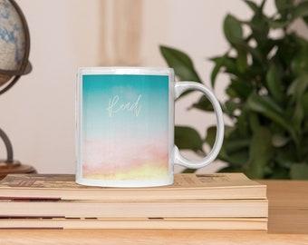 Read More, Coffee Lovers, Quote Coffee Mugs, Typography Mugs, Chai Mug, Affirmations Mug, Mug with Sayings, Galaxy Print, Motivational Gifts