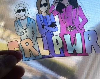 Female Empowerment Stickers, Kamala Sticker, Clear Laptop decals, Self Love stickers, Activist Decal, Journal Stickers, Make Noise Stickers