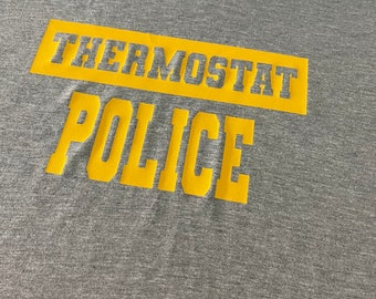 Thermostat Police, Funny Shirts, Mens T-Shirts, Best Dad, Fathers Day Shirts, Tee Sayings, Dads T-Shirts, Gift, Beard Game Strong, Dad Gifts