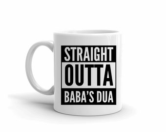 Funny Mugs, Urdu Mugs, Father's Day, Daughter Gift, Straight Outta, Sarcastic Mug, Mug with Sayings, Foodie Gift, Motivational Gifts, Arabic