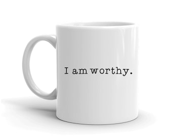 I am Mugs, Coffee Lovers, Gifts for Him, Gift for Her, Chai Mug, Affirmations Mug, Mug with Sayings, Foodie Gifts, Mugs, Motivational Gifts