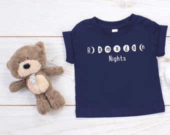 Unisex kids, kids graphic tees, Islamic kids gifts, Ramadan t-shirt, Eid t-shirt, Ramadan Mubarak, Ramadan Gifts, Eid mubarak, Moonphase Tee