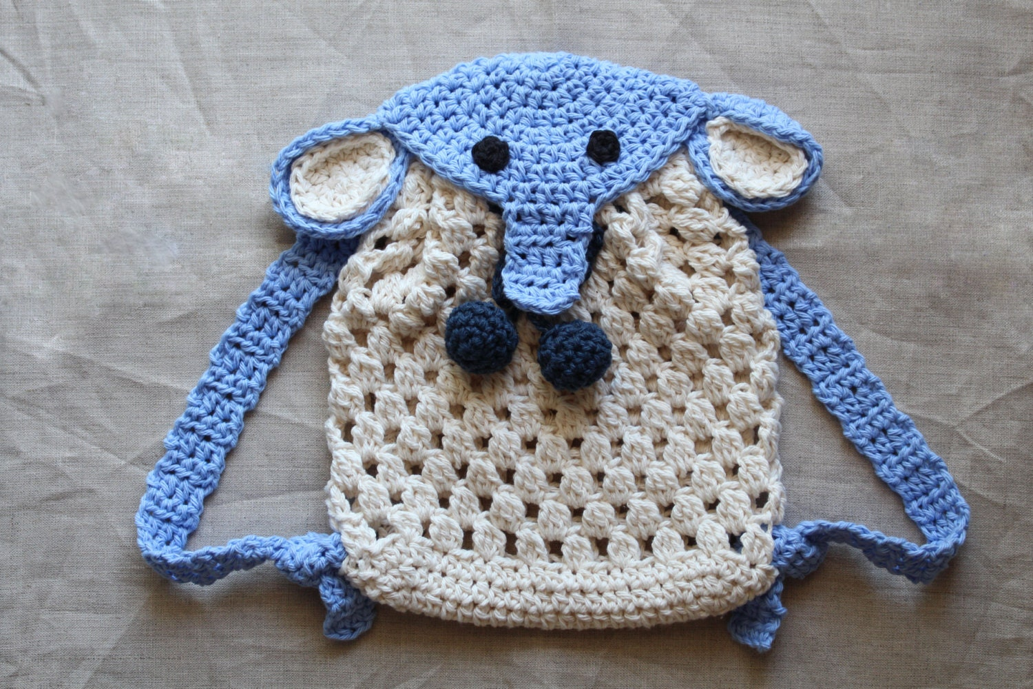 Crochet Pattern Crochet Elephant Backpack For Babies And Etsy