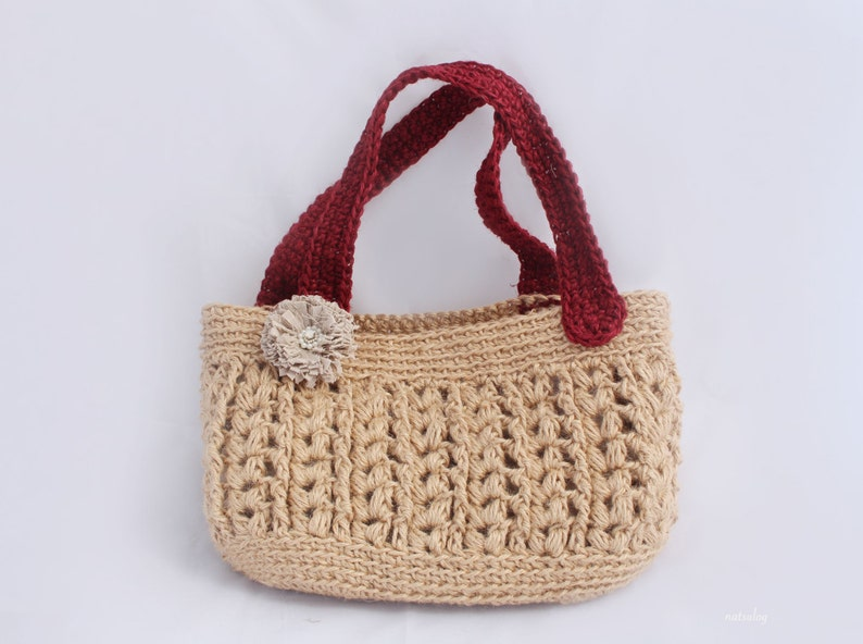 Crochet Jute bag pattern Crochet tote bag pattern Crochet image 0