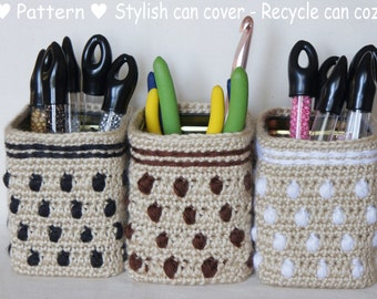 Instant download- Crochet Pattern- Stylish Can Cover