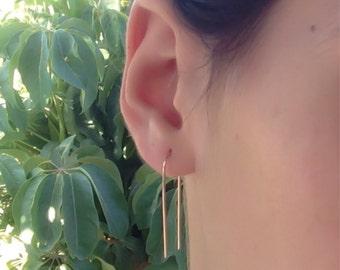 Gold line earrings, gold bar earrings,14K gold filled post earrings, line earrings, gold studs, gold bar stud earring