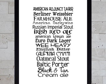 Printable Beer Art - Nonic Pint Styles