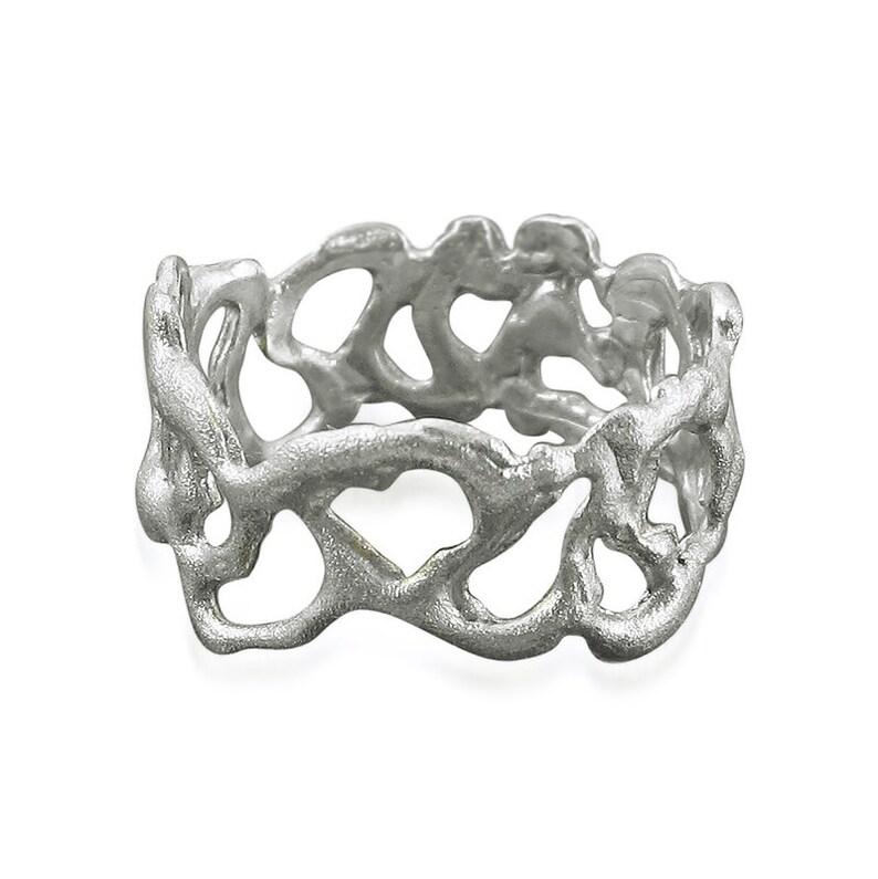 Wide wedding ring Modern wedding band Silver wedding ring Boho wedding ring Alternative wedding ring Wedding band Sterling silver ring