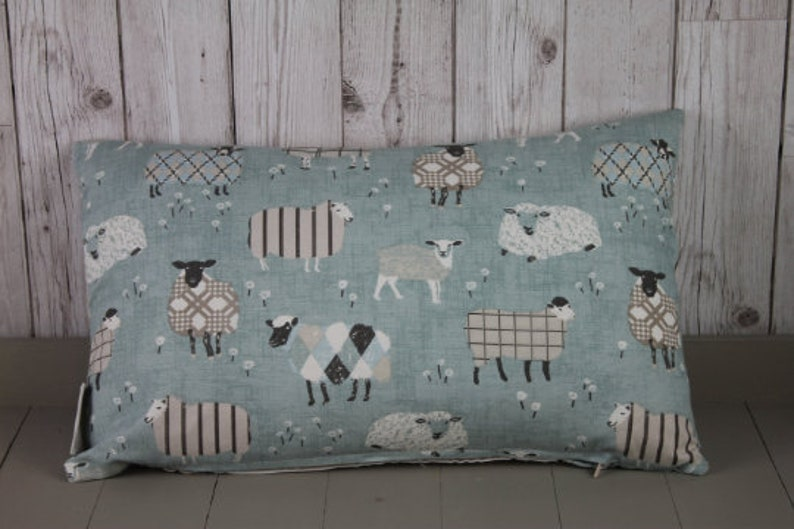 Duckegg Sheep in Jumpers Fabric by the half Metre-100/% Cotton British Fabric-Craft Fabric