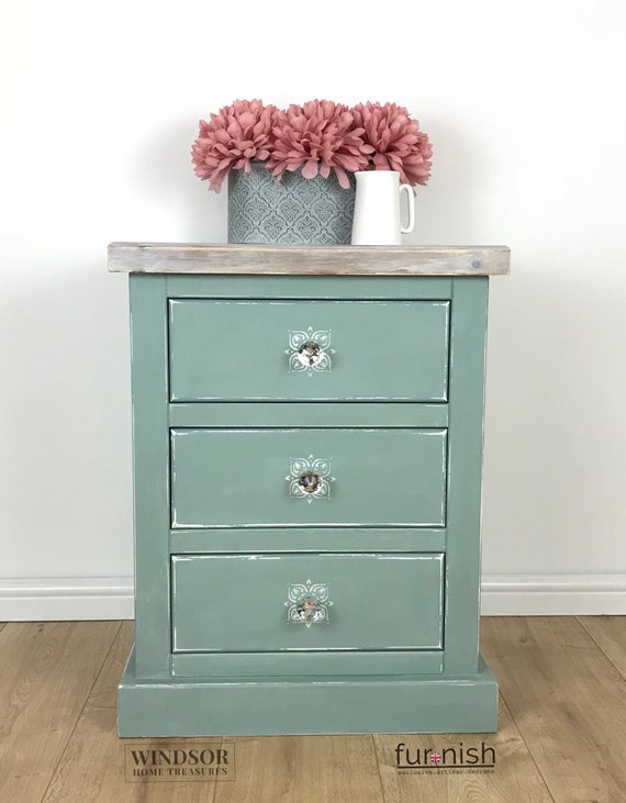 sports shoes 0d17a 040f8 Bedside Table, Painted Side Table, Painted Bedside Table, Small Chest of  Drawers, Painted Drawers, Painted Chest of Drawers, Side Table