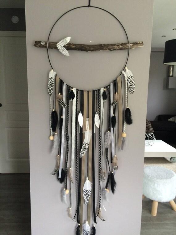 attrape r ves dreamcatcher geant en bois flott etsy. Black Bedroom Furniture Sets. Home Design Ideas