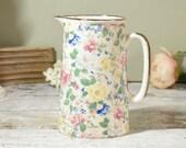 Vintage floral milk jug o...