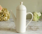 Retro vintage ivory Italian ceramic coffee pot