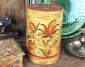 Vintage cylindrical box, ...