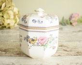 vintage china lidded pot,...