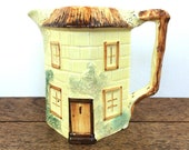 Vintage ceramic 'cottage ware' jug or pitcher, made in England