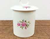 Vintage jam pot with lid,...