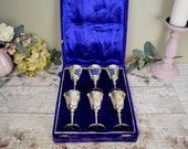 Boxed set of six engraved...