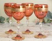 Set of four vintage wine ...