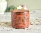 Vintage small lidded pot ...