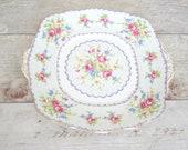 Vintage china cake plate,...