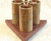 Set of six wide wooden na...