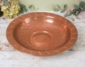 Vintage large copper dish or bowl