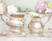 silver EPNS cream jug and...