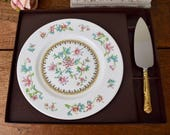Vintage cake plate and se...
