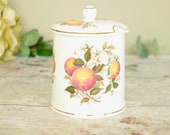vintage Fortnum and Mason ceramicmarmalade storage jar or pot with lid,