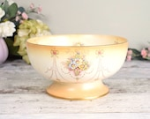 Large footed dish or bowl, vintage Crown Devon regency design .