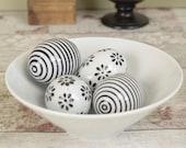 Ceramic egg ornaments, se...