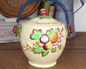 vintage ceramic biscuit barrel/cookie jar made in England by Royal Staffordshire