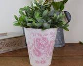 Pink planter or plant pot...