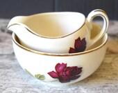 Cream ceramic sugar bowl ...
