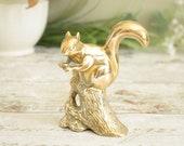 Vintage brass squirrel or...