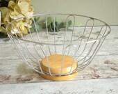Vintage wire fruit basket...