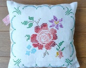 vintage embroidered cushi...