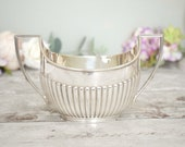 Vintage silver plated sug...