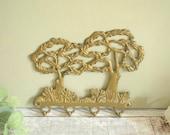 vintage brass wall hooks,...