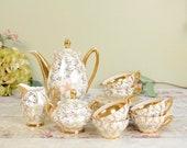 Vintage gold chintz and l...