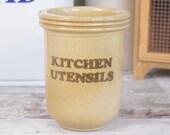 rustic stoneware utensil ...