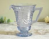 Retro vintage blue glass ...