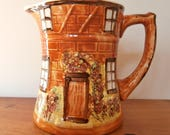 Vintage ceramic jug in traditional 'Cottageware' design; made in England