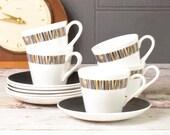 Set of five bone china te...