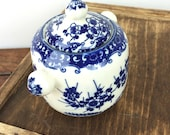 Small vintage blue and wh...