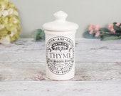 vintage herb jar (Thyme) ...