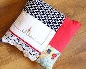 Patchwork cushion or pill...